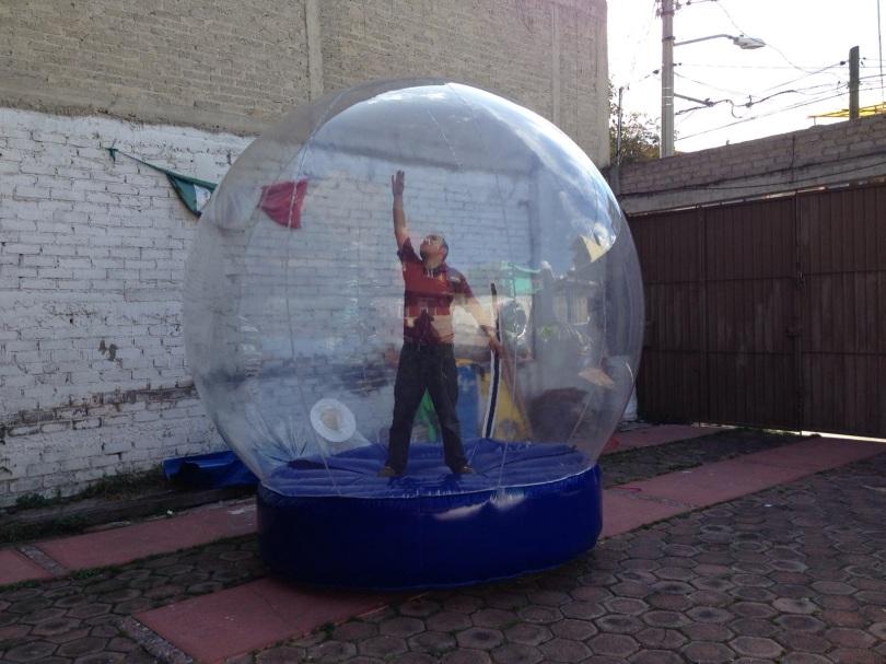 Esfera inflable para publicidad en navidad