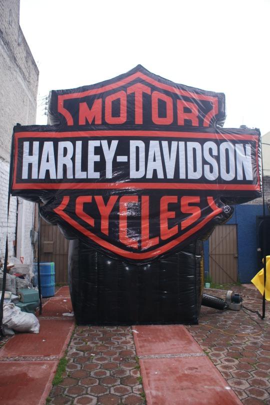 inflable logotipo Harley- Davidson